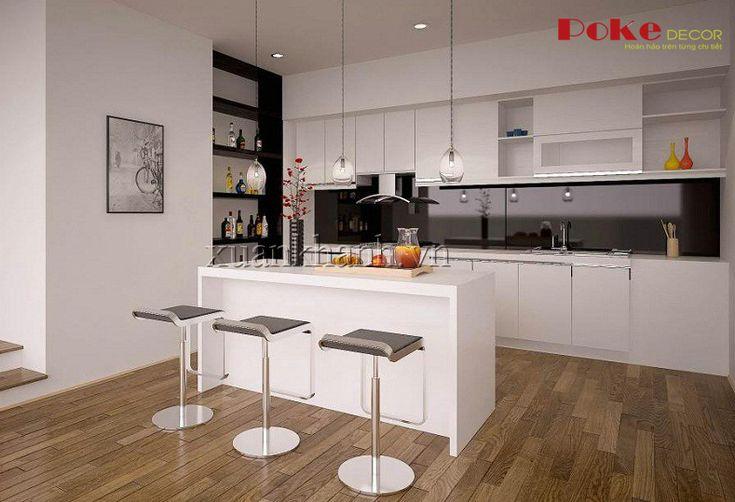 Gian bếp đơn giản cho gia đình hiện đại - Pokedecor.vn