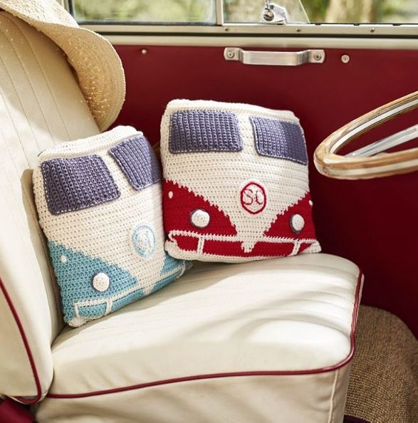 Camper Cushions. Anne Egan's cute cushions are the ultimate camper van accessory. Taken from issue 45.
