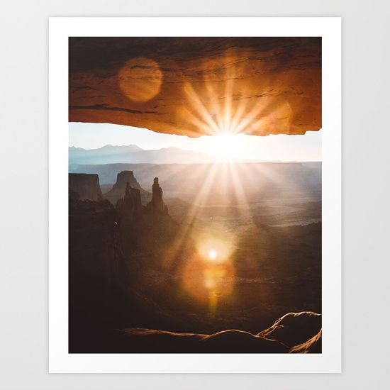 Mesa Arch Art Print by Rustic Bones. Worldwide shipping available at Society6.com. Just one of millions of high quality products available.