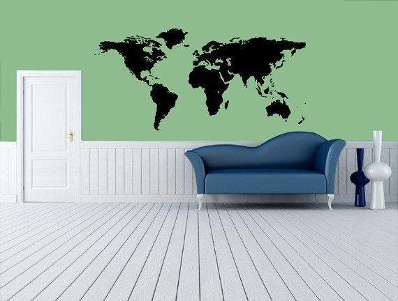 Best World Map Wall Decal Ideas On Pinterest World Map Decal - Wall stickers decalswall decal wikipedia
