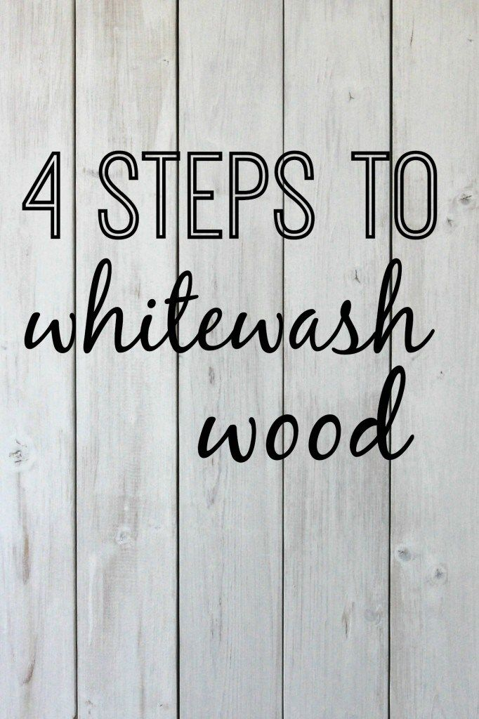 4 steps to whitewash wood | DIY tutorial for whitewashing a wooden pallet. www.thedempsterlo...