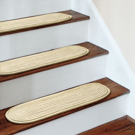 Nonslip Stair Treads Protect wooden stairs from wear and tear.