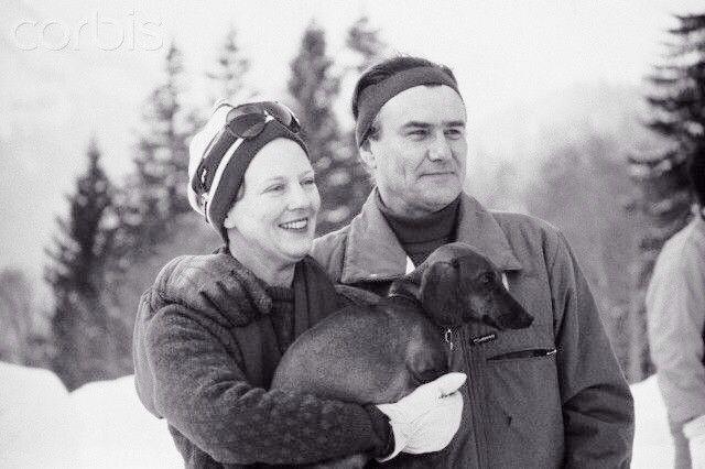 Danish Royal Family with dachshund