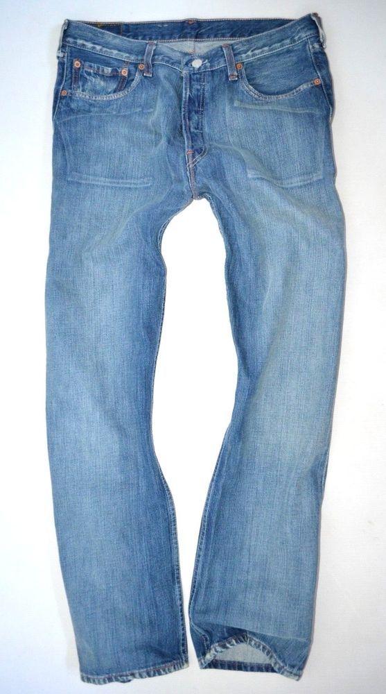 NEW Mens LEVIS 501 ® pressed ice wash 00501-0129 STRAIGHT LEG JEANS size W34 L32 ebay