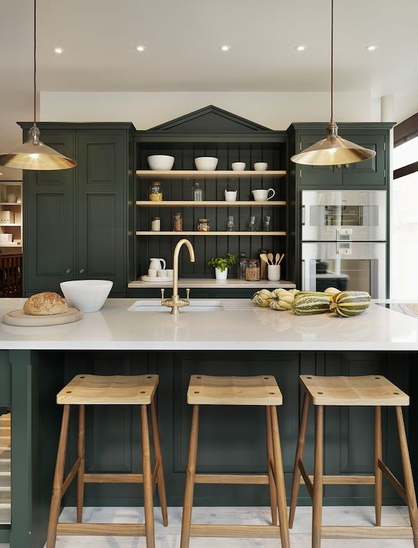 Consider a dramatic color for a single area or kitchen piece.