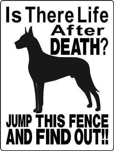 GREAT DANE ALUMINUM DOG SIGN 2514A #GreatDane