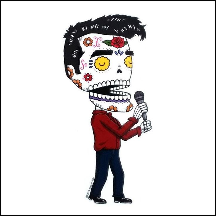 Misc - Morrissey Day of the Dead Sticker