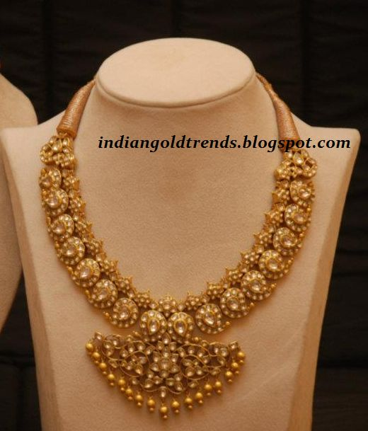 Latest Indian Gold and Diamond Jewellery Designs: Beautiful Kundan Mango haar