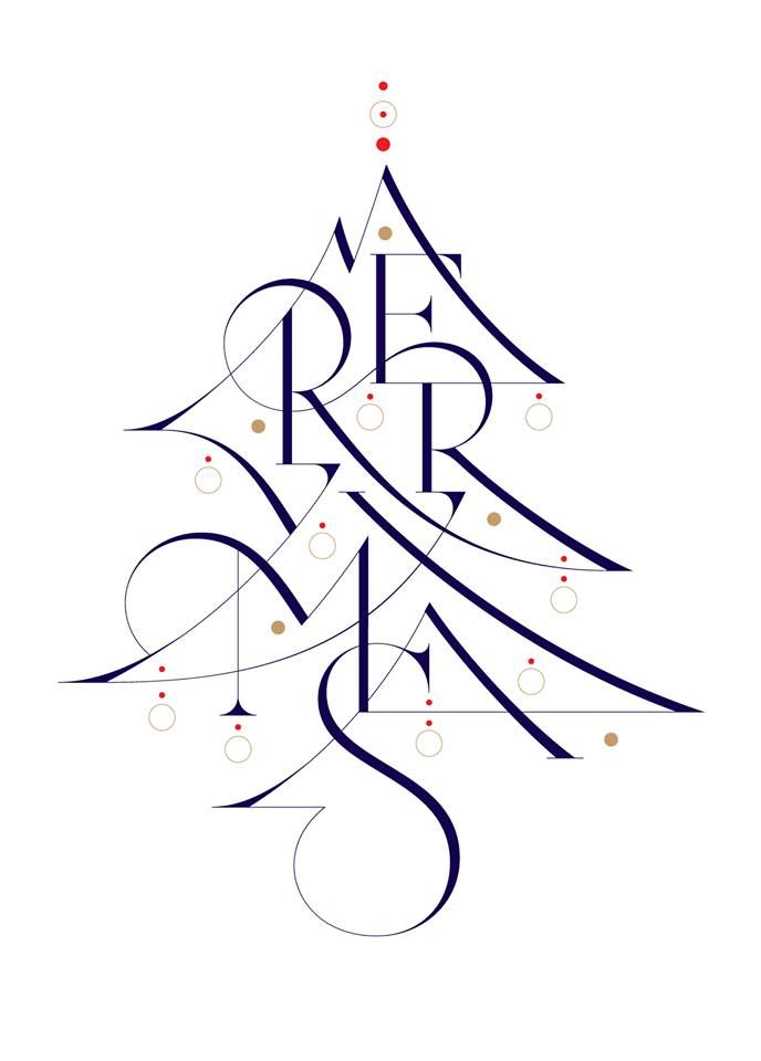 lettering / merry Christmas! by Áron Jancsó