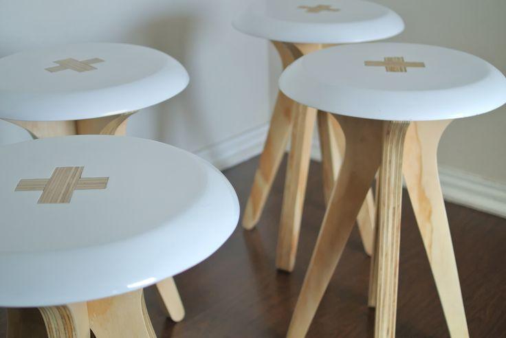 Taburete Quatro by AtelierStudio www.atelierstudio.cl