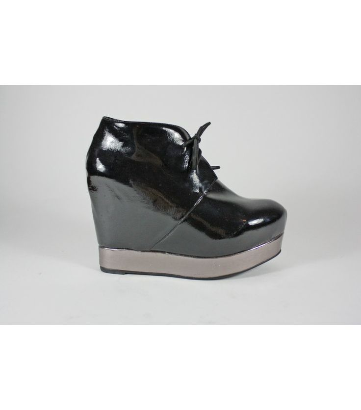 Jeffrey Campbell Patent Leather Wedge Heels / 37 - WST.fi