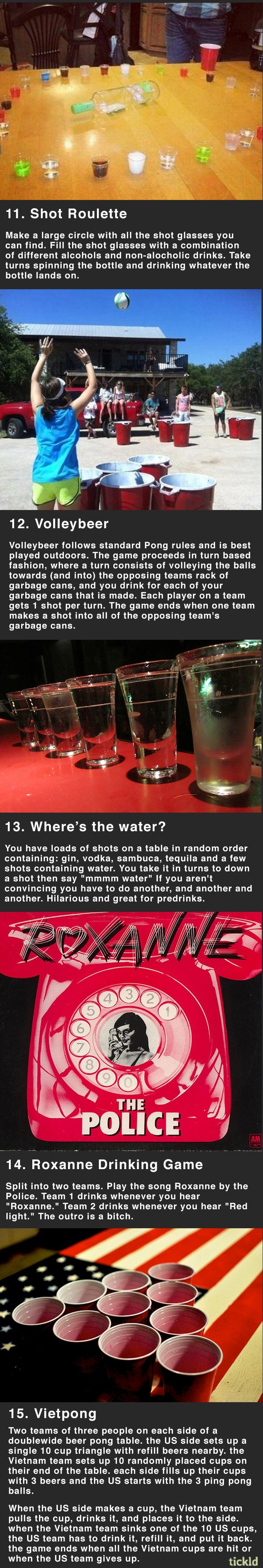 15 fun drinking games