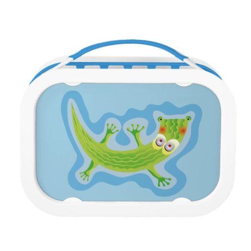 Tierno cocodrilo. Crocodile. Producto disponible en tienda Zazzle. Product available in Zazzle store. Regalos, Gifts. Link to product: http://www.zazzle.com/tierno_cocodrilo_lunch_box-256881717490471875?CMPN=shareicon&lang=en&social=true&rf=238167879144476949 #lonchera #LunchBox #cocodrilo #crocodile