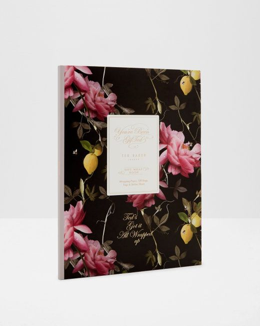 Citrus Bloom print gift wrap book - Black | Gifts For Her | Ted Baker NEU
