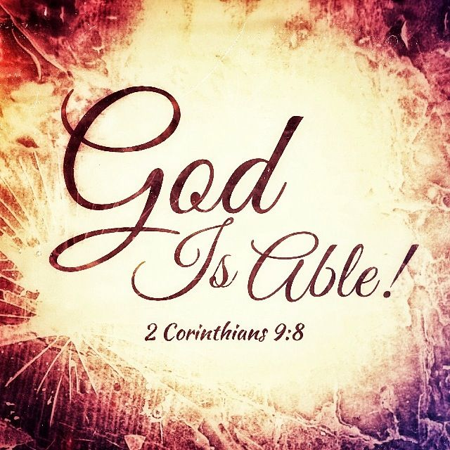 Marvelous God Is Able! Idea