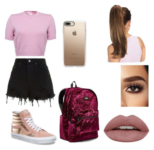 """outfit"" by kehichabelle on Polyvore featuring Ksubi, Vans, Victoria's Secret and Casetify"