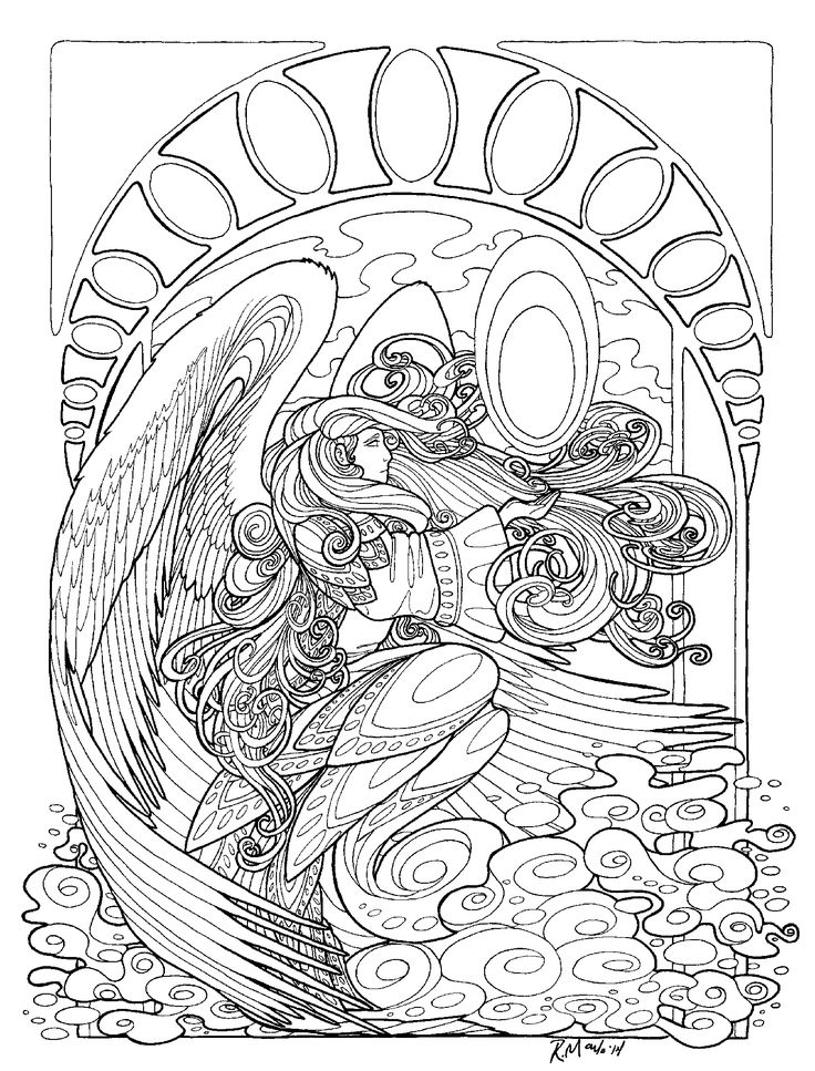 Angles coloring pages ~ 127 best Colour in Angles/Fairies/Elves images on ...