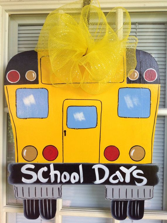 Hey, I found this really awesome Etsy listing at https://www.etsy.com/listing/106319668/school-bus-back-to-school-door-hanger-by