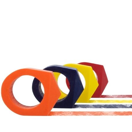 Crayon Rings - Red, Yellow, Blue, Orange  $12: Interesting Rings, Funny Things, Amazing Stuff, Rings I Parmağınıza, Color, Crayons Rings I, Melted Crayons, Blue Orange, Poketo Crayons