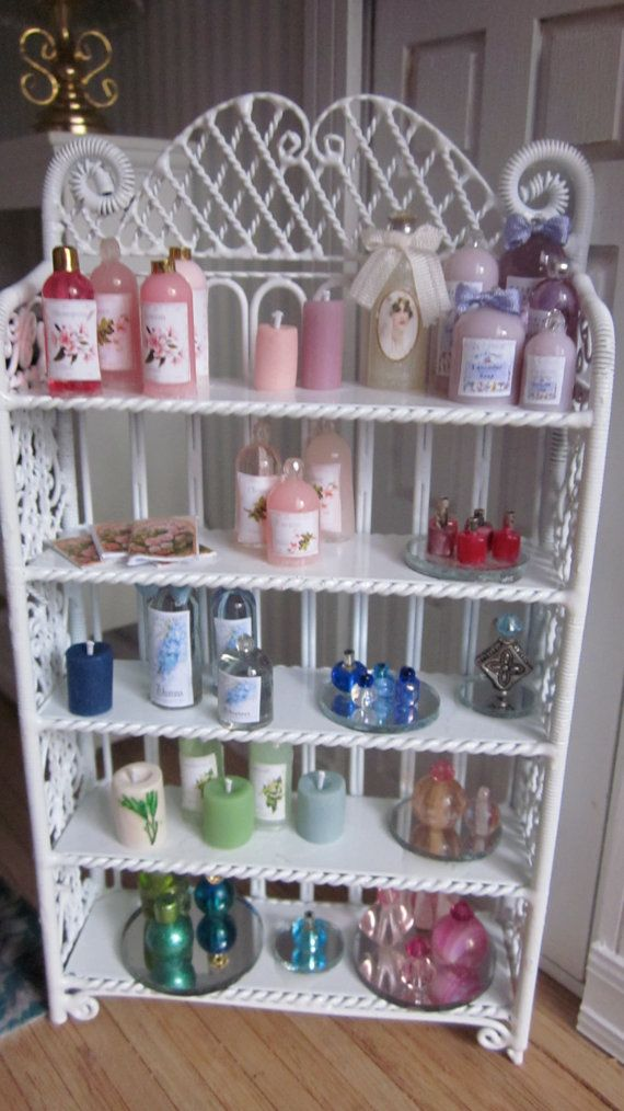 Shabby Chic Toiletries Shelf by kensingtonminiatures on Etsy, $79.99