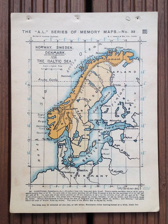 Map of Norway Sweden. Denmark and the Baltic by wafflesandsprout