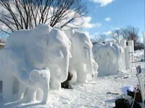 Carnaval de Quebec - Snow Sculpture Video Slideshow