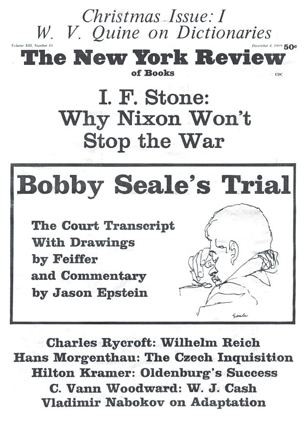 """October 29, 1969: Judge orders """"Chicago Eight"""" defendant Bobby Seale gagged and chained to his chair during his trial. Seale and his seven fellow defendants had been charged with conspiracy to cross state lines with intent to cause a riot during the violent anti-war demonstrations in Chicago during the 1968 Democratic National Convention."""