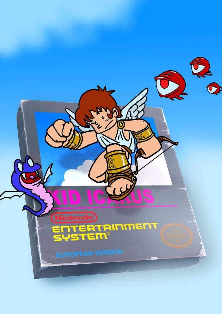 Fan art från 2014 för ett annat av mina favoritspel sedan jag var liten, Kid Icarus.Kid Icarus innehöll dåligt researchad Grekisk mytologi blandat med plattformshoppande, Zelda dungeons och dessutom en bana shoot em up på slutet. Spelet har också flera olika slut, man kan befria medhjälpare som hjälper till att slåss mot bossarna, det finns sjukstugor och affärer där man kan uppgradera Pit och auberginetrollkarlar! Spelet har allt! Tyvärr är …