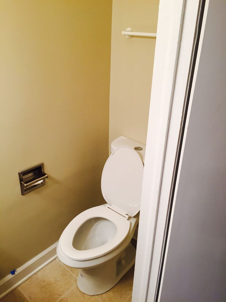 Toilet and Recessed Toilet Paper Holder Installation