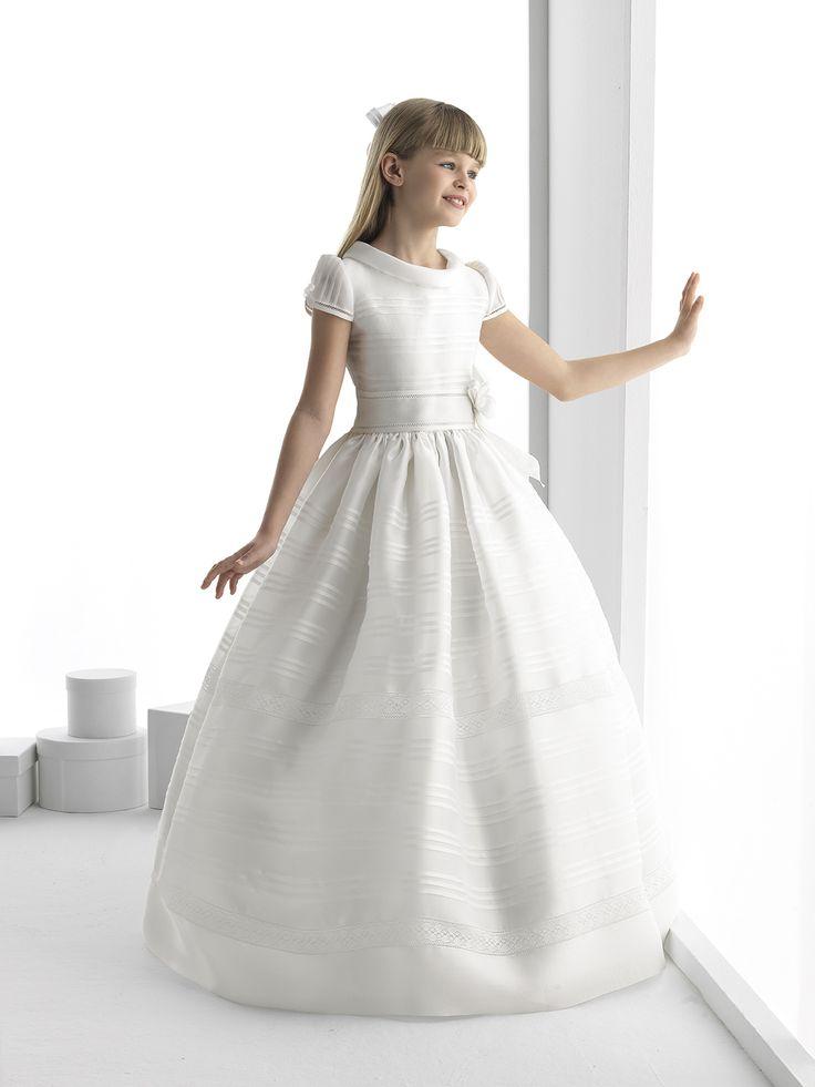 Cowl Neck Ball Gown Organza First Communion Dress