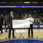 ZTE fechou parceria com o Golden State Warriors para lançar o programa de doação de unidades de telefone