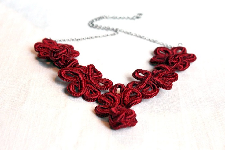 ROPE KNOT NECKLACE, via Etsy.