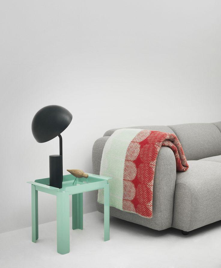 Box Table, Cap Lamp, Shore Bird, Ekko Throw Blanket, Swell Sofa | Normann Copenhagen | http://www.normann-copenhagen.com/