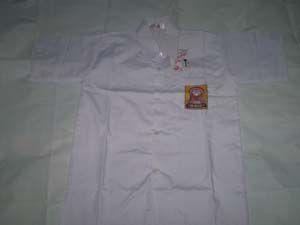 Baju SMP Putih Putra Putri No L1  Bahan oxford  Ukuran: 44cm x 61cm ( Lebar Dada x Panjang Baju) http://tokoyuan.com/seragam-laki/baju-smp-putih-no-l1/