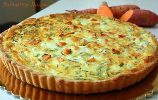 recette Quiche patate douce, feta et pignons croquants