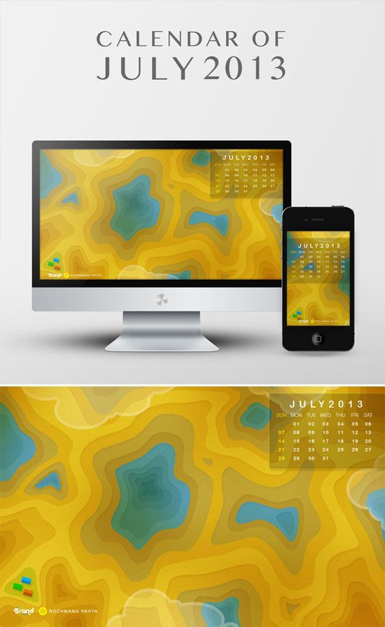 """Free Desktop Wallpaper Calendar of July 2013"" at: http://ibrandstudio.com/freebies/desktop-wallpaper-calendar-july-2013"