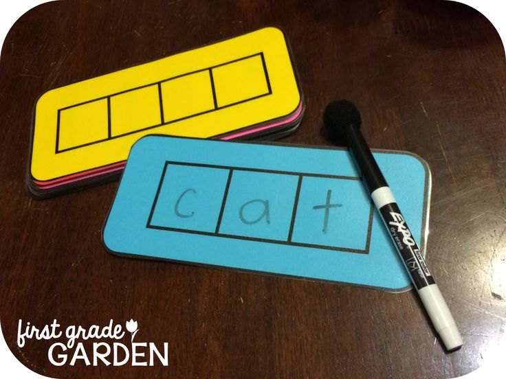 3- or 4-Letter Word Boxes for Sounding Out Words Freebie (First Grade Garden)