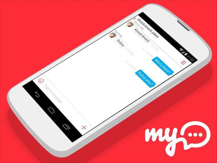 myChat Android App: Dialog Screen Concept / My.com  Design by My.com team — http://www.behance.net/mycom.