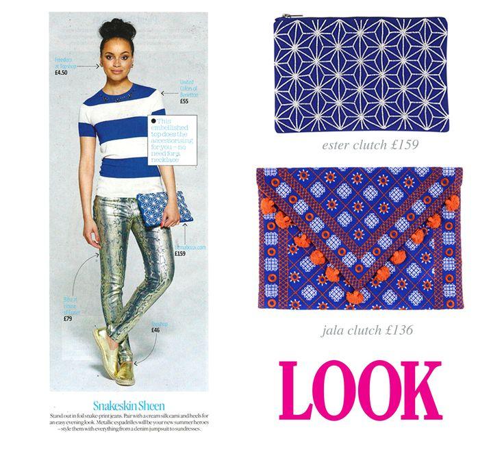 Uzma Bozai Ester Clutch Bag styles in Look Magazine