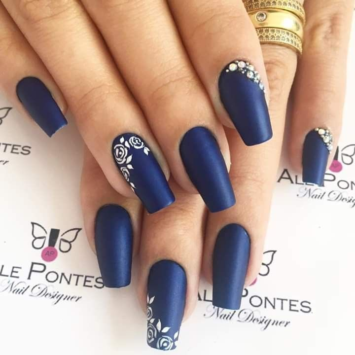 Notitle Nadia Bernard With Images Blue Nails Formal Nails