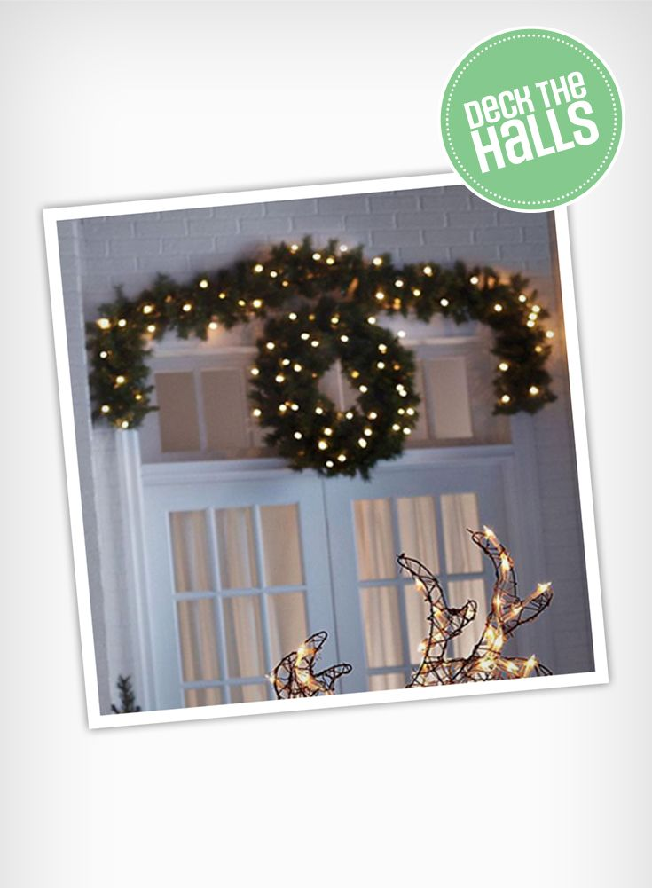 You can make sure your home is merry and bright throughout the holidays with a pre-lit garland.