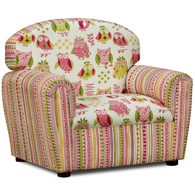 Itu0027s A Hoot Cotton Upholstered Chair Owl Themed Chair For Kids