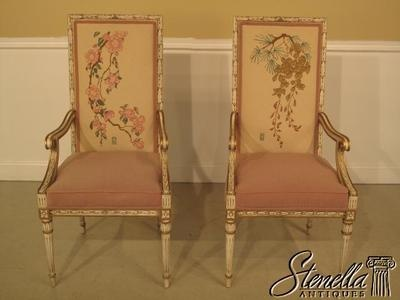 2716: Pair KARGES Paint Decorated Arm Chairs. Arm ChairsEvansville Indiana