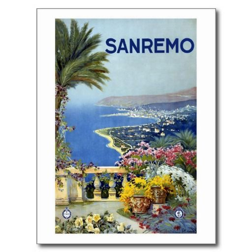 Sanremo Italy Vintage Postcard Postcards