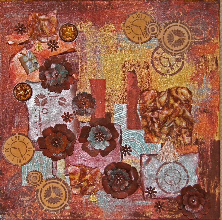 9 besten rusty paper bilder auf pinterest tipps alte - Collage auf leinwand basteln ...