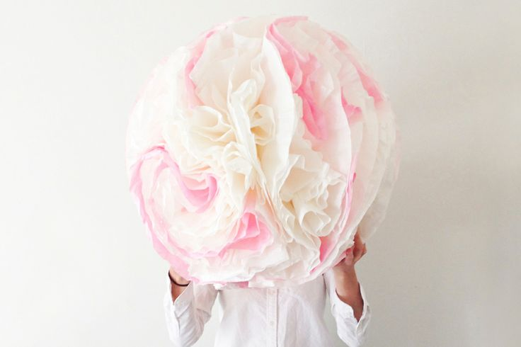 Giant Coffee Filter Pom-Pom DIY