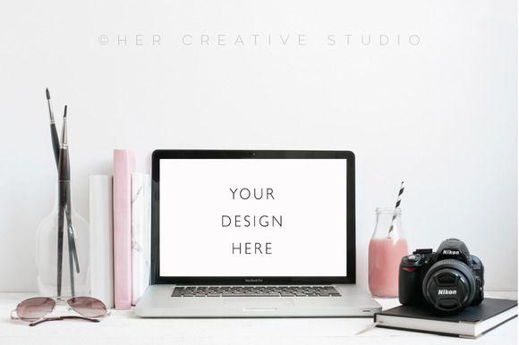 Laptop Mockup with Camera by Her Creative Studio on @creativemarket https://crmrkt.com/Ekxgo