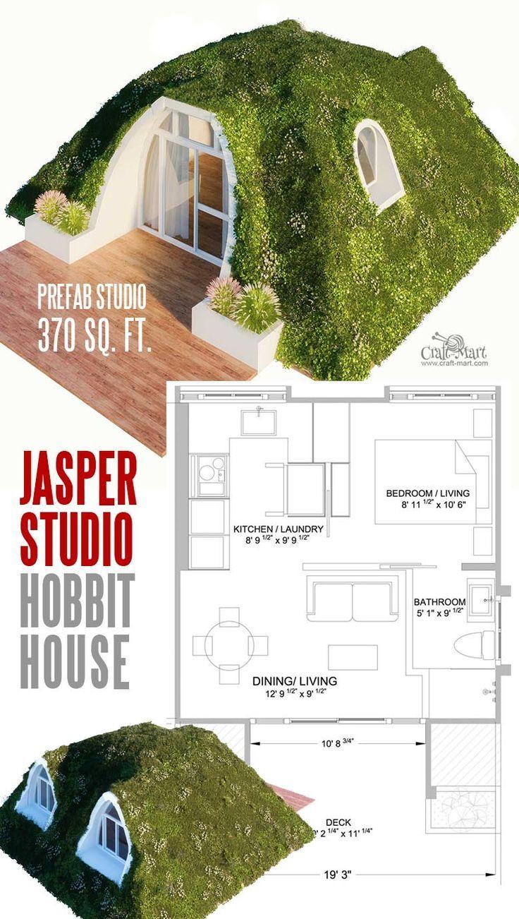 """14 Cutest Custom and Prefab Hobbit Houses for Tiny Living """"Fairy Tale-Style"""""""
