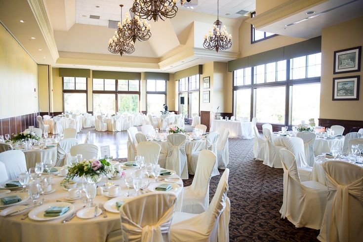 Michelle and Darren's Deer Creek Golf Course Wedding in Audley Hall (holds up to 120 guests plus wedding party head table)