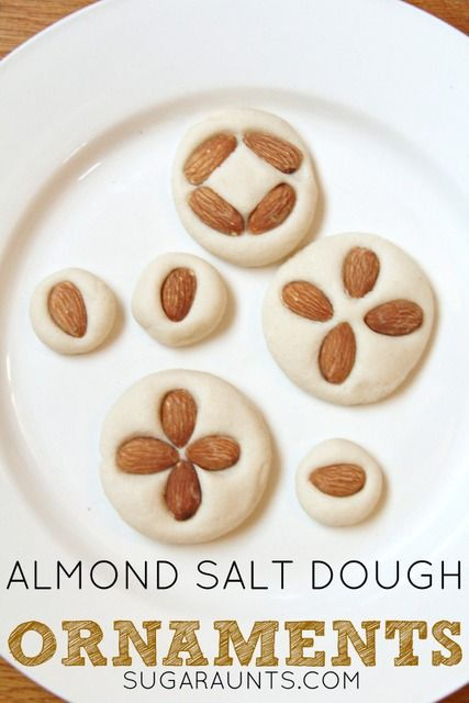 Almond Scented Salt Dough Recipe for Christmas ornaments or sensory ...